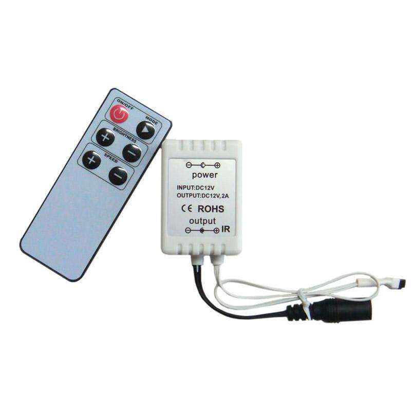 One-coloured LED strip controller. IR remote-controlled Dimmer